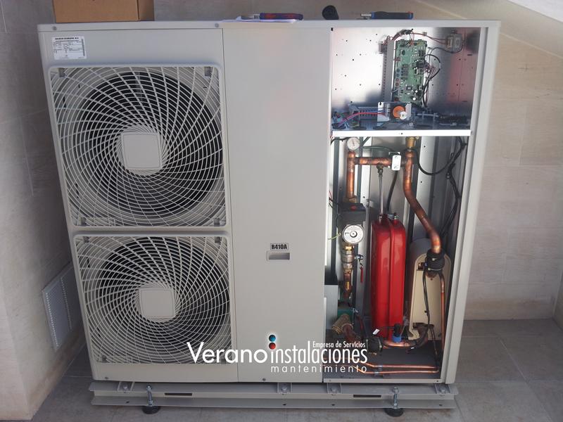 Aerotermia bombas de calor aire agua for Calefaccion bomba de calor radiadores