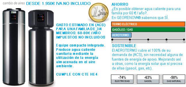 Aerotermia bombas de calor aire agua - Bomba de calor geotermica precio ...